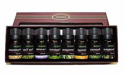 100% Pure Essential Oil Set of 8 Scents 10ml Therapeutic Gra