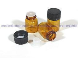 1ml amber glass essential oil bottle screw