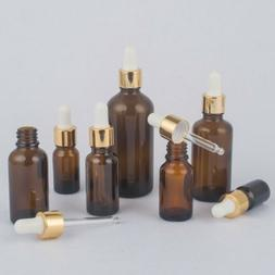 1Pc 5-30ml Mini Empty Glass Bottle Aromatherapy Essential Oi