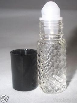4 dram 1/8 oz roll-on swirl empty fragrance perfume essentia