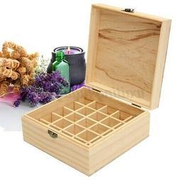 25 Slots Aromatherapy Essential Oil Wooden Storage Box Conta