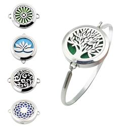 316L Steel Aromatherapy Bangle Essential Oil Locket Diffuser