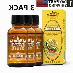 3x Pure Ginger Essential Oil Lymphatic Drainage Therapy Mass