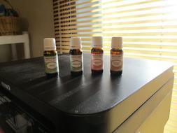 4 new 10ml bottles Plant Guru essential oils