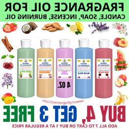4 oz. Fragrance Scented Oil For Soap Burning Bath Bomb Candl