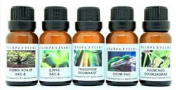 5 Bottles Set  1/2 Premium Fragrance Oils Crazy Candles
