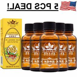 5 PCS Ginger Oil New Arrival Plant Therapy Lymphatic Drainag