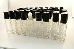 50 Glass roll-on roller-ball bottle 10ml perfume fragrance E