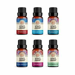 GuruNanda Top 6 Blends Essential Oils Set - 100% Pure and Na