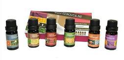 6 Scents  100% Pure Essential Oil Set 10ml Therapeutic Grade