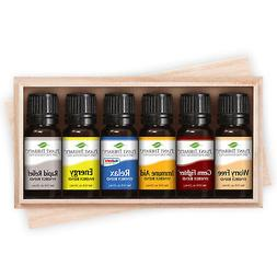 Plant Therapy Top 6 Essential Oil Synergies Set. Includes: S