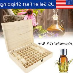 68 Bottle Essential Oil Wooden Storage Box Case Container Ar