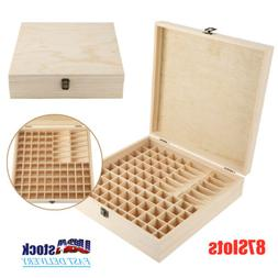87 Slots Aromatherapy Essential Oil Storage Box Wooden Case