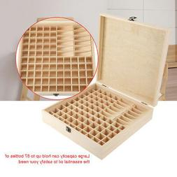87 Slots Wooden Large Essential Oil Storage Box Case Contain