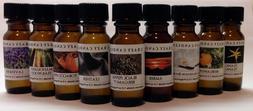 9 Bottle Oil Set Leather, Tobacco, Amber, Bergamot, Plus 5 m