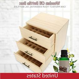 90 Slots Three-tiered Essential Oil Bottle Container Wooden