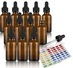 Amber Glass Empty Bottle Vials Extract Droppers Essential Oi