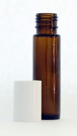 10 ml  Amber Glass Essential Oil Roll On Bottles - Pack of 4