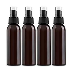4 oz Amber PET  Empty Spray Bottle- Pack of 4