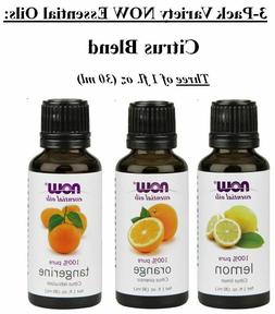 Now Foods Aroma Set, Orange, Lemon, Tangerine 1-ounce Essent