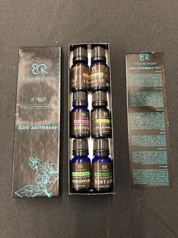 Aromatherapy Top 6 Essential Oils 100% Pure & Therapeutic Gr