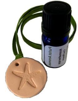 Aromatherapy Car Air Freshener, 'Sea Star' Terracotta Pendan