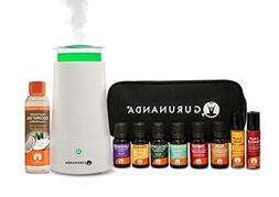 GuruNanda Aromatherapy Diffuser + Essential Oils Starter Kit