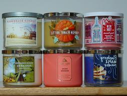 BATH & BODY WORKS THREE WICK SCENTED CANDLES W/ESSENTIAL OIL