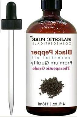MAJESTIC PURE BLACK PEPPER ESSENTIAL OIL  4OZ Premium Qualit