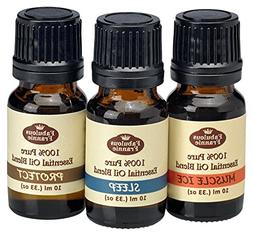 100% Pure Essential Oil Blend Set - Aches & Pains, Protect ,