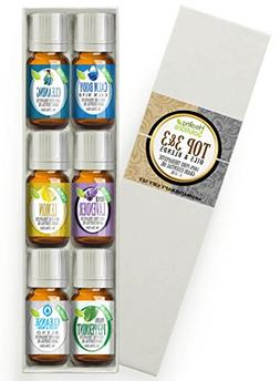 Top 3 Blends & Top 3 Pure Oils Set 100% Pure, Best Therapeut