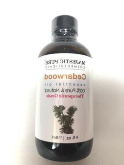 Majestic Pure Cedarwood Essential oil 4 oz Pure & Natural Th