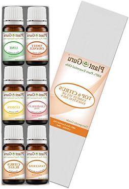 Citrus Essential Oil Set Sampler Kit 6-10 ml 100% Pure Thera