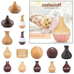 Cool Mist Ultrasonic Humidifier LED Aroma Essential Oil Diff