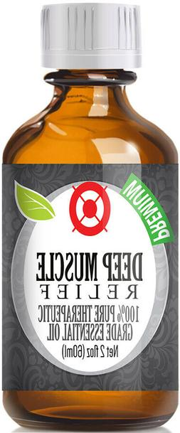 Deep Muscle Essential Oil Blend  Glass Bottle + Dropper