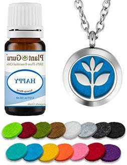 Plant Guru Essential Oil Diffuser Necklace Set Kit With Happ