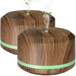 Diffusers for Essential Oil, Mogomiten 450ML Wood Grain Esse
