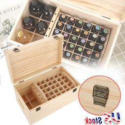 Double-layer Essential Oil Wooden Storage Box Organizer Hold