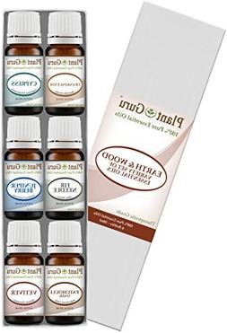 Earth & Wood Essential Oil Variety Set Kit - 6 Pack - 100% P