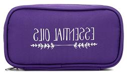 """Essential Oil Carrying Case - Purple """"Lavender Branches"""" - F"""