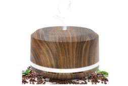 Essential Oil Diffuser 450ml, Dark Wood Grain Aromatherapy D