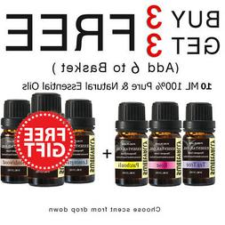 Essential Oil Pure & Natural Aromatherapy Diffuser Set 10ml