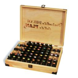 essential oil wood box lockable storage natural