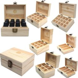 Essential Oil Wooden Box Bottle Storage Case Container Organ