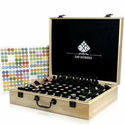 Essential Oil Wooden Box Organizer Wood Storage Case Holds a