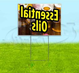 ESSENTIAL OILS 18x24 Yard Sign WITH STAKE Corrugated Bandit