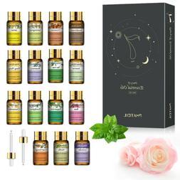 PHATOIL Essential Oil Set Gift 15pc Natural Diffuser Essenti