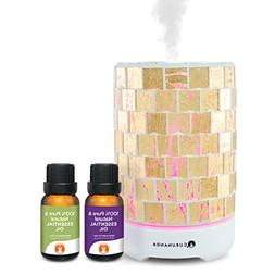 Essential Oils Starter Kit - Gold Crystal Ultrasonic Diffuse