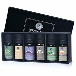 Lagunamoon Essential Oils Top 6 Gift Set - Lavender,Tea Tree