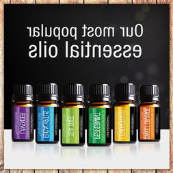Pure Body Naturals Essential Oils Top 6 Sample Set for Aroma
